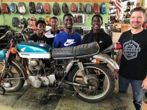 Flying Piston Benefit Sponsors MotoGo - Bring Shop Class Back