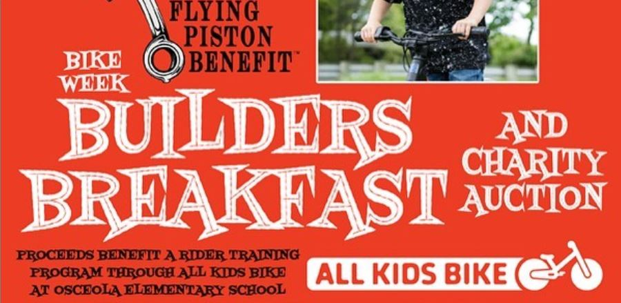 Flying Piston Builders Breakfast Rolls into Bruce Rossmeyer's Daytona Harley-Davidson for Daytona Bike Week
